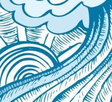 Cool wave Sticker