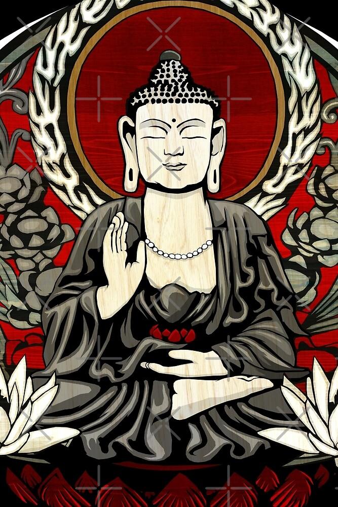Gautama Budda Colour Crop by GrizzlyGaz