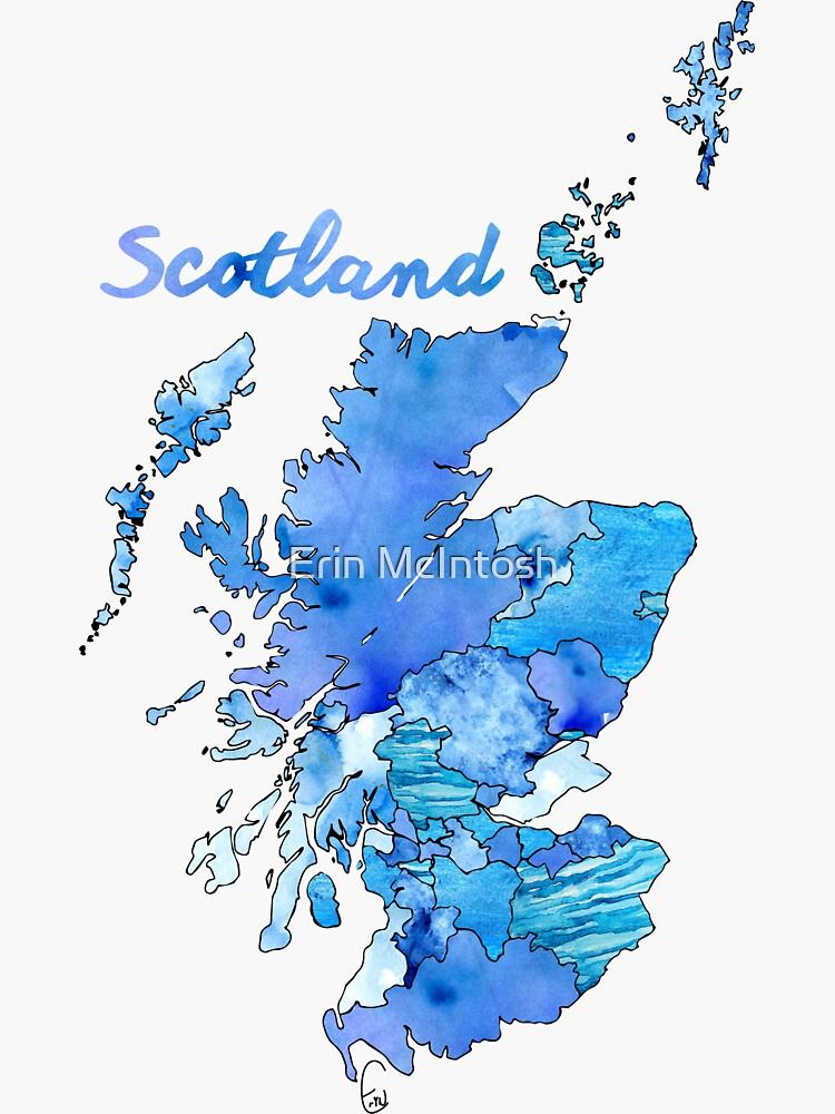 Watercolor Countries - Scotland by erinmcintosh