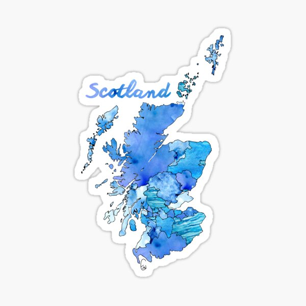 Watercolor Countries - Scotland Sticker