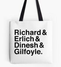Silicon Valley - Richard & Erlich & Dinesh & Gilfoyle Tote Bag