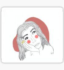 Daydreaming Girl Sticker