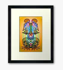 Side by Side, Ambigram Art by L. R. Emerson II Framed Print