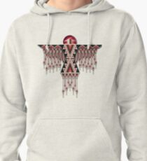 Red Native American Southwest-Style Thunderbird Pullover Hoodie