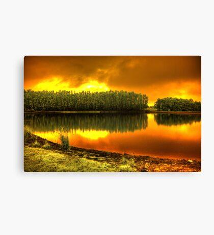 Blaze on Trout lake Canvas Print