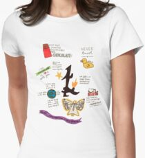 The Infernal Devices collage Women's Fitted T-Shirt