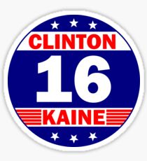 Clinton Kaine 16 Sticker