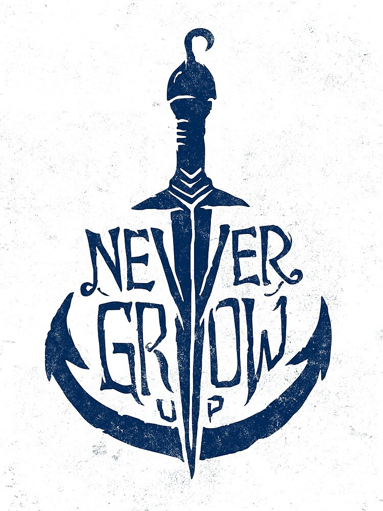 Never Grow Up by Ocean Ave Lettering and Design