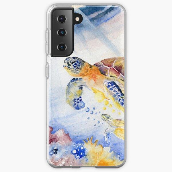 Going Up - Sea Turtle Samsung Galaxy Soft Case