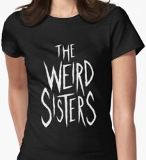 The Weird Sisters - White Women's Fitted T-Shirt
