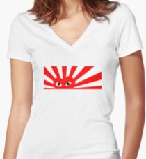 CDG Play x Rising Sun Women's Fitted V-Neck T-Shirt