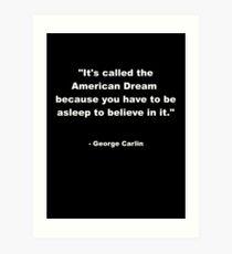 Lámina artística George Carlin