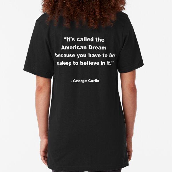 George Carlin Slim Fit T-Shirt
