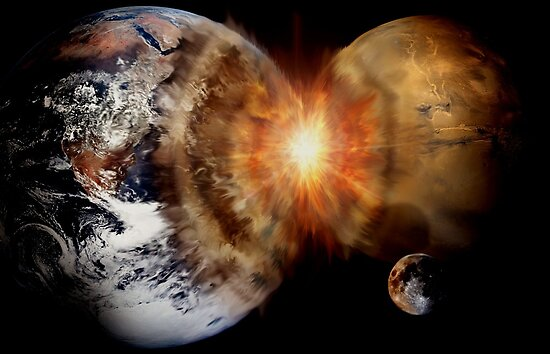Planetary Collision  by Cliff Vestergaard