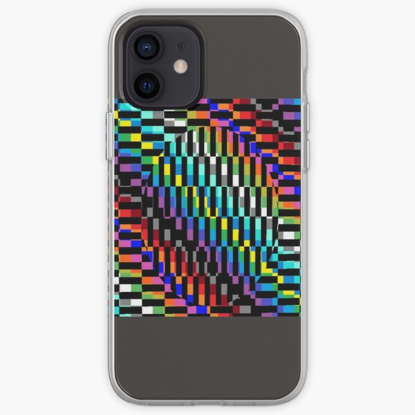 Trippy Colored Squares Lightweight Hoodie  Gift shirt iPhone Soft Case