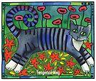 Striped Cat of Stripey Joy by TangerineMeg