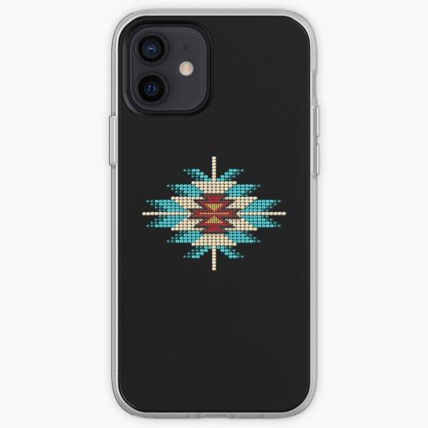 Turquoise Native American Southwest-Style Sunburst iPhone Soft Case