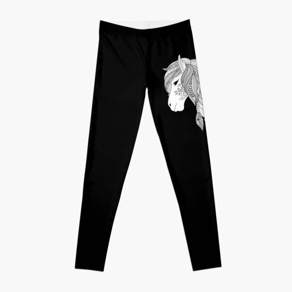 Horse for coloring & painting kids gift riding Leggings