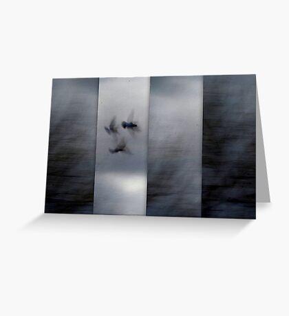 Into the Light of the Dark Black Night Greeting Card