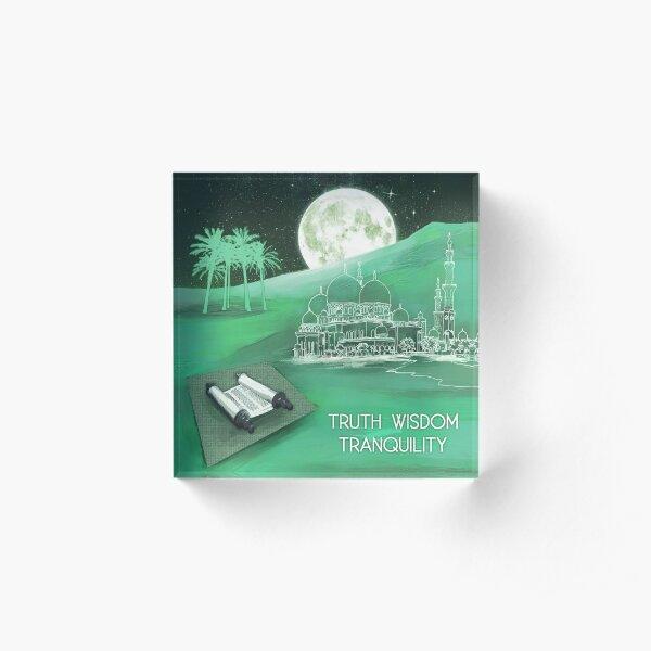 Mystic Persian Moon Acrylic Block