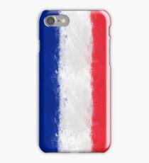 French Flag Grunge iPhone Case/Skin