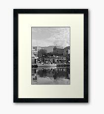 Winter, Constitution Dock, Hobart Framed Print