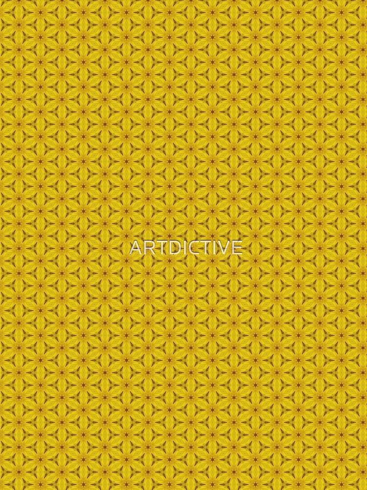 Yellow Flower Power Pattern | Geometry by ARTDICTIVE
