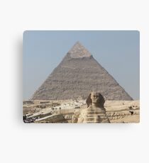Pyramid and Sphinx at Giza Canvas Print
