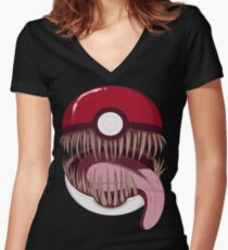 Mimic Ball Women's Fitted V-Neck T-Shirt