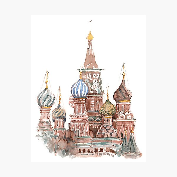 Saint Basil's Cathedral, Red Square of Moscow Photographic Print
