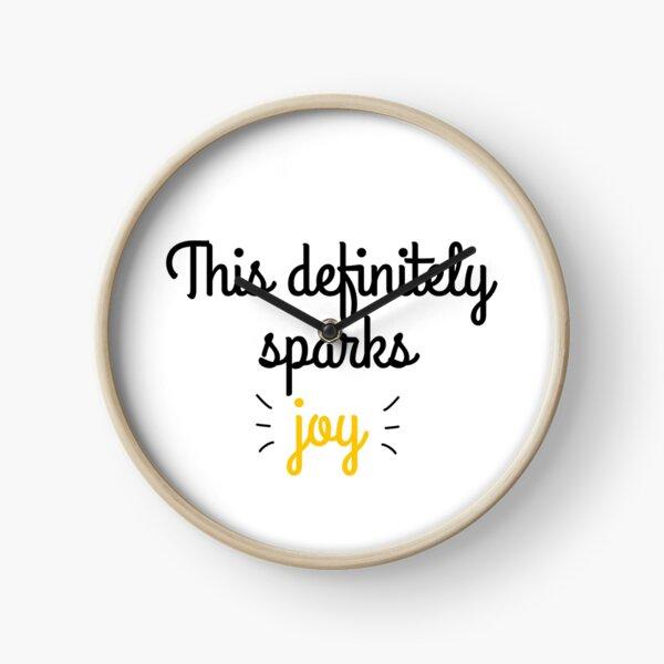 This definitely sparks joy Clock