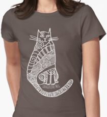 Rufus (white print) Women's Fitted T-Shirt