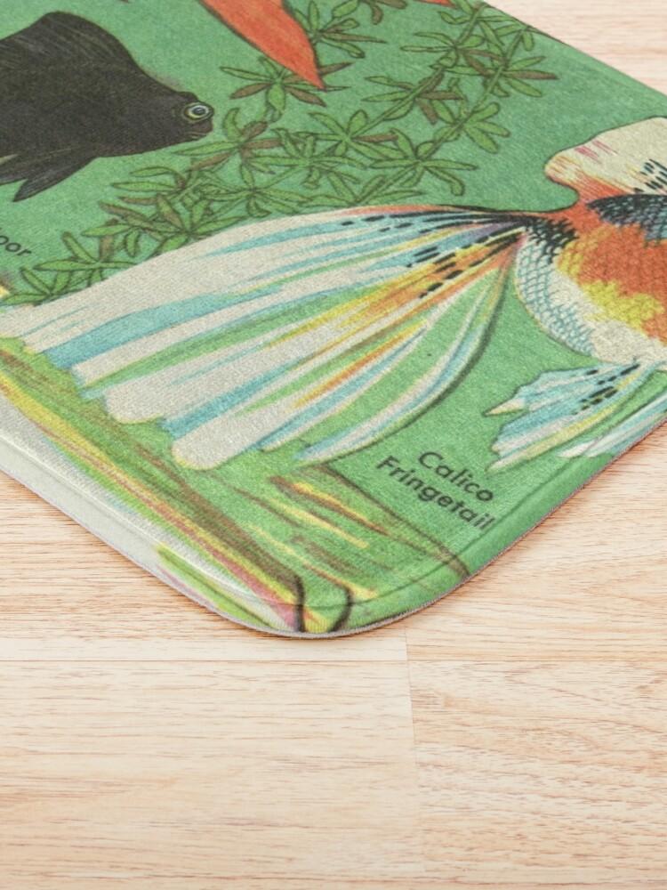 Alternate view of Fancy Goldfish - Vintage Retro Aquarium Illustration Bath Mat