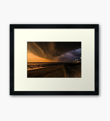 Approaching storm looking the other way Framed Print