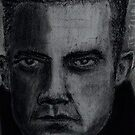 Charcoal portrait man by JayJay70