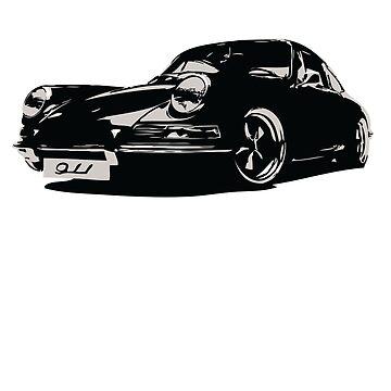 Porsche 911 classic german automotive design by concuido
