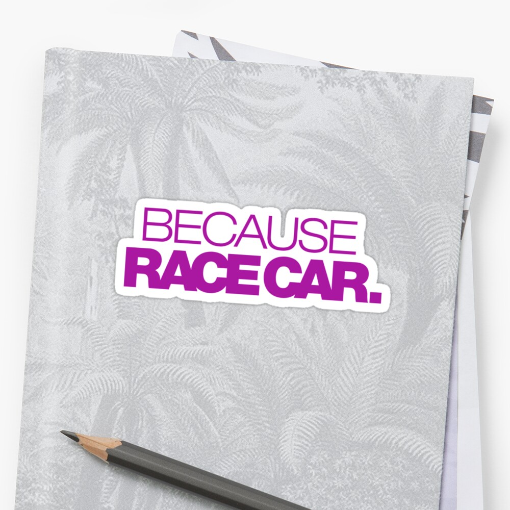 BECAUSE RACE CAR (6) by PlanDesigner
