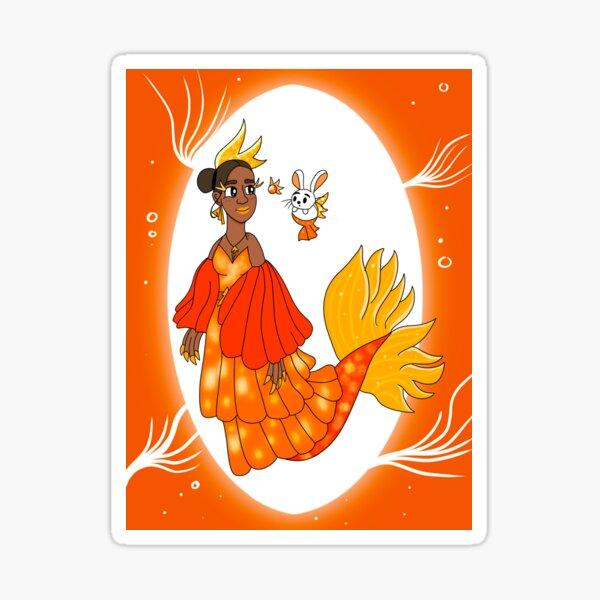 Goldfish Mermaid Sticker