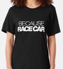 Camiseta ajustada PORQUE RACE CAR (1)