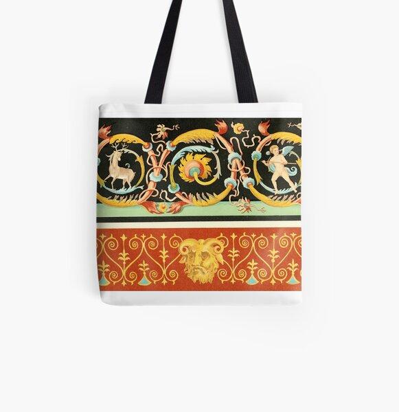 Wanddekoration aus Pompeji Allover-Print Tote Bag