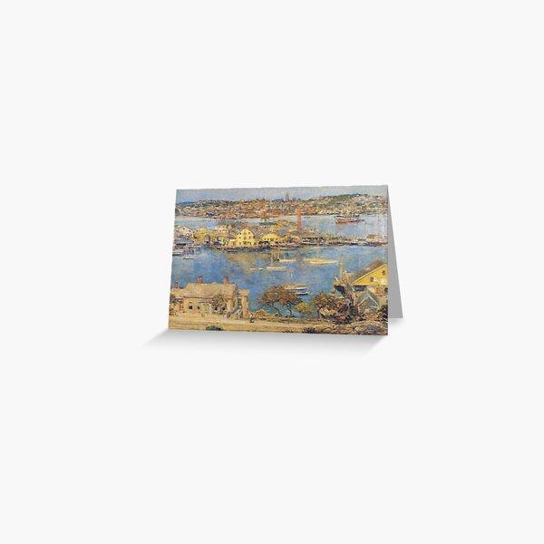 Gloucester Harbor 1899 - Hassam Artwork Reproduction Greeting Card