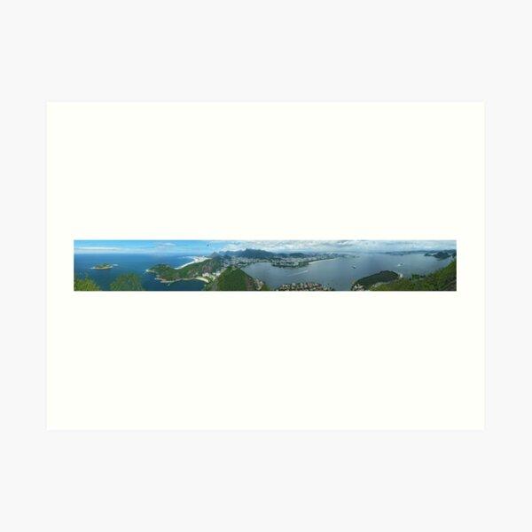 Rio Panorama from Sugar Loaf Mountain. Art Print