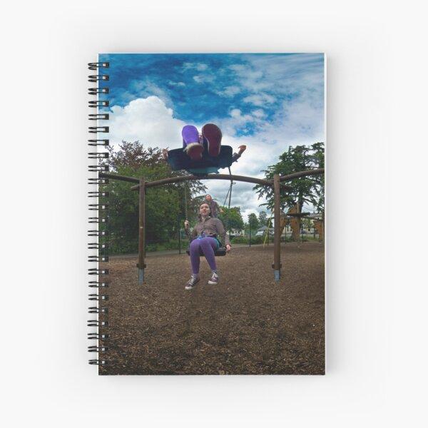 3  Kids on a Swing Spiral Notebook