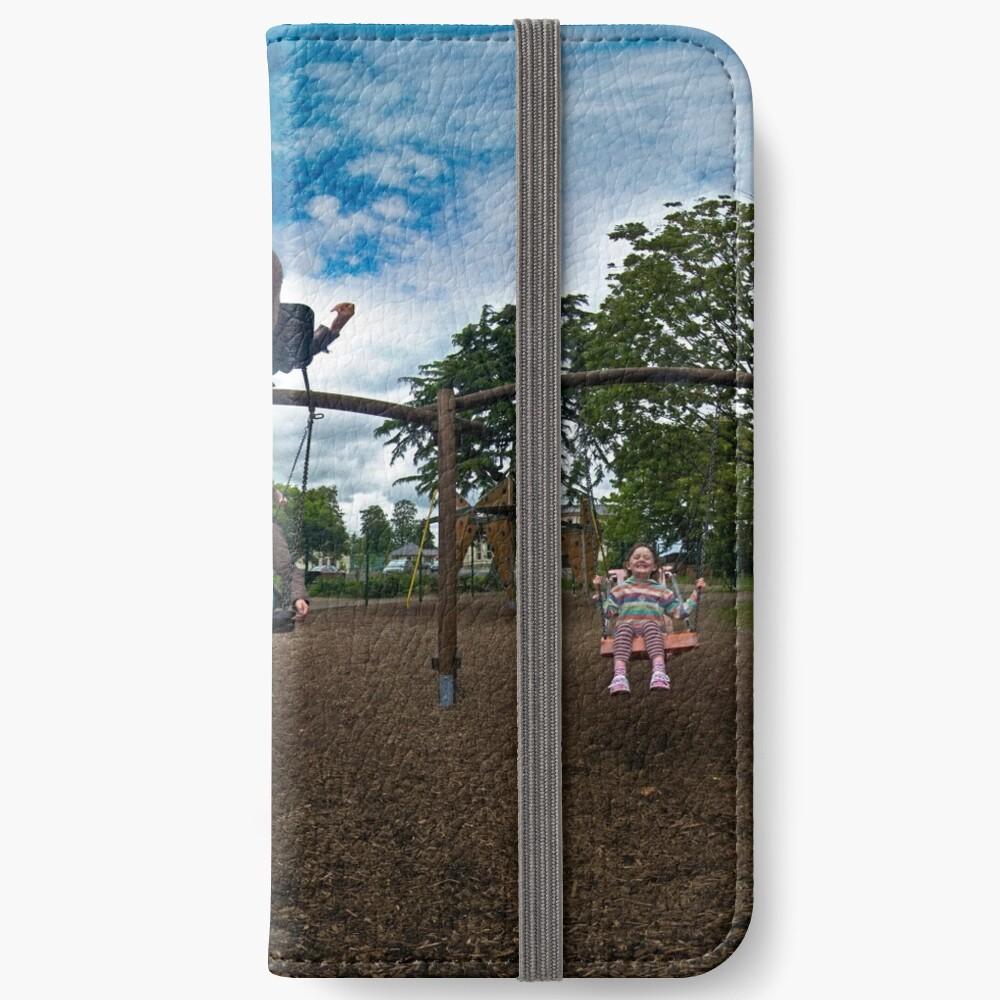 3  Kids on a Swing iPhone Wallet
