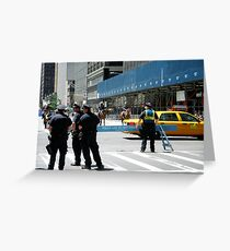 Do Not Cross - Police Line Greeting Card