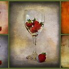 Collage - Strawberry Still Life by Sandra Cockayne