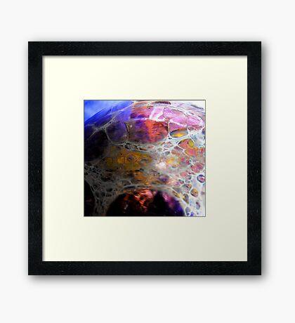 Oil Slick Framed Print