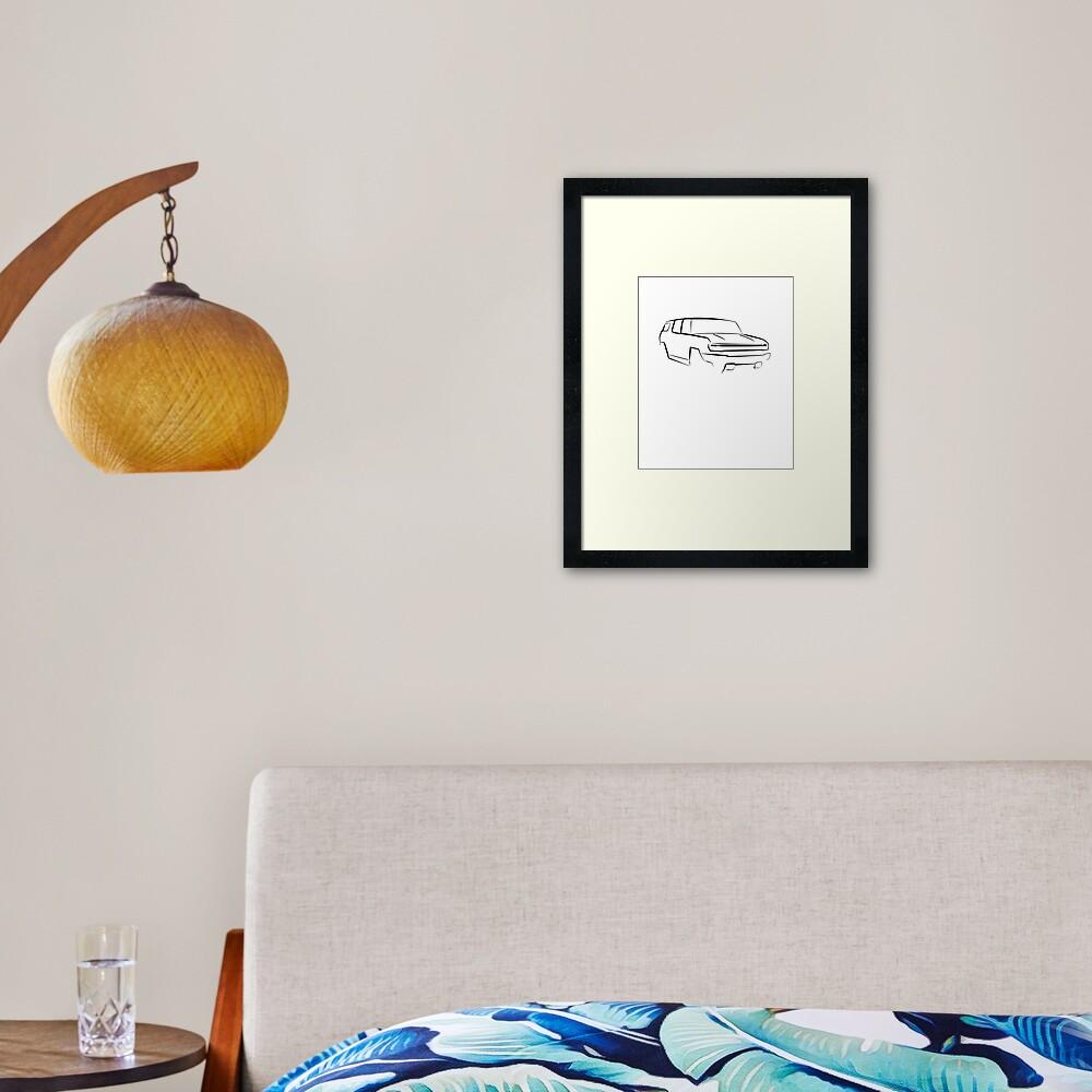 HEV Series Framed Art Print