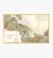 Vintage Map of Ipswich and Annisquam Harbor (1857) Photographic Print