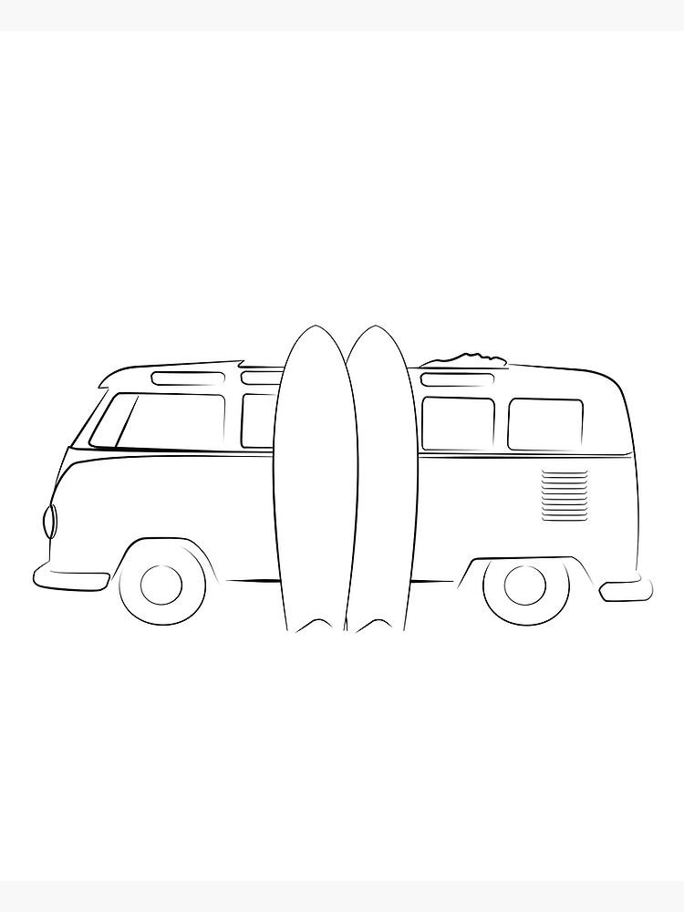 Surfer Vanlife Series by ThinkinClothing